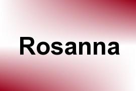 Rosanna name image