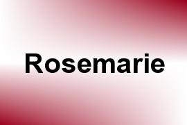 Rosemarie name image
