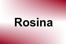 Rosina name image