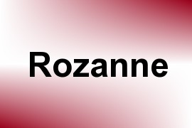 Rozanne name image