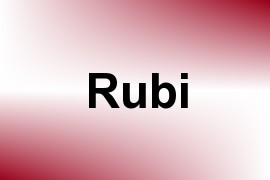 Rubi name image