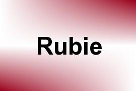 Rubie name image