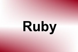 Ruby name image
