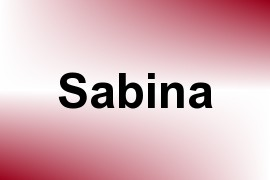 Sabina name image