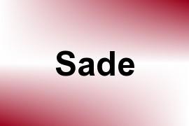 Sade name image