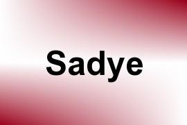 Sadye name image