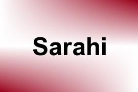 Sarahi name image