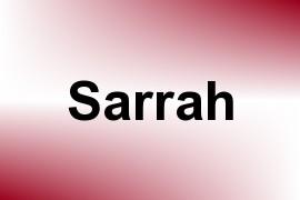 Sarrah name image