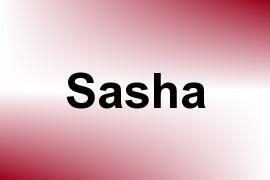 Sasha name image