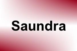 Saundra name image