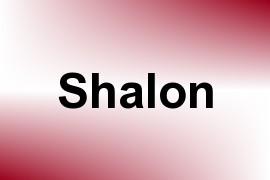Shalon name image