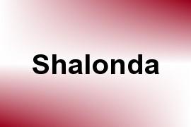 Shalonda name image