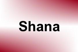 Shana name image