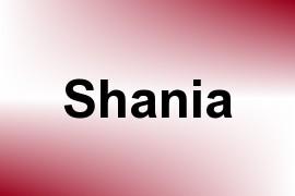 Shania name image