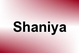 Shaniya name image
