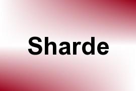 Sharde name image