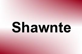 Shawnte name image