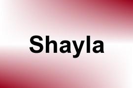 Shayla name image