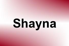 Shayna name image