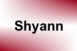 Shyann name image
