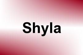 Shyla name image