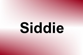 Siddie name image