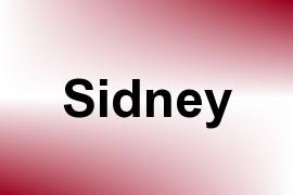 Sidney name image