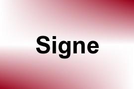 Signe name image