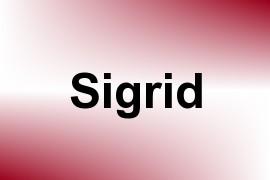 Sigrid name image