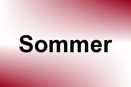 Sommer name image