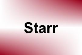 Starr name image