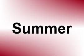 Summer name image
