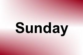 Sunday name image