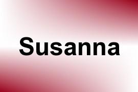 Susanna name image
