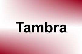 Tambra name image