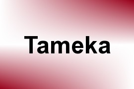 Tameka name image