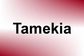 Tamekia name image