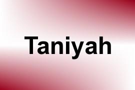 Taniyah name image