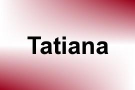 Tatiana name image