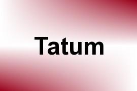 Tatum name image