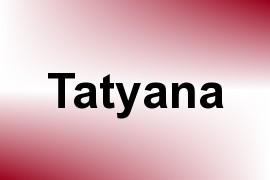 Tatyana name image