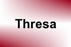Thresa name image