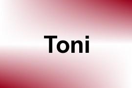 Toni name image
