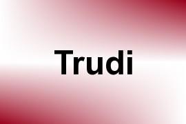 Trudi name image