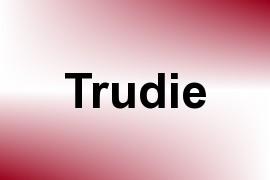 Trudie name image