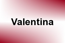 Valentina name image