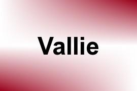 Vallie name image