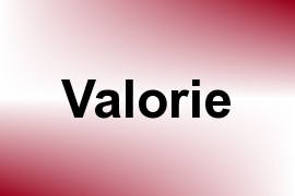 Valorie name image