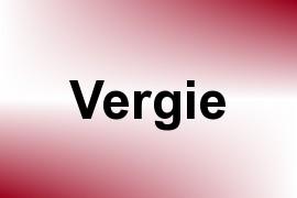 Vergie name image