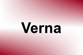 Verna name image